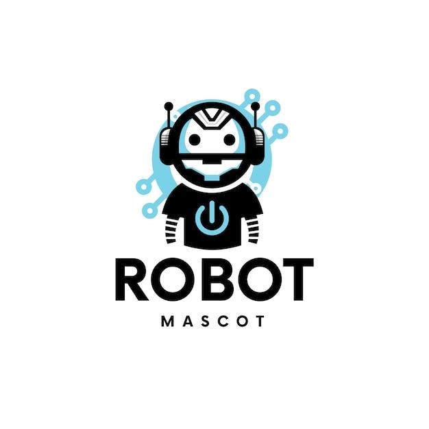 Création De Logo Tech Robot De Jeu Vecteur Premium