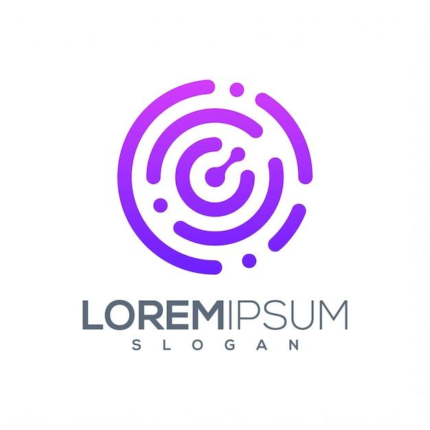 Création De Logo Technologique Prête à L'emploi Vecteur Premium