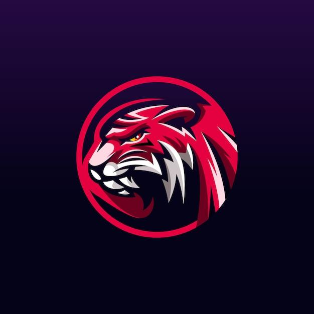 Création De Logo De Tigre Vecteur Premium