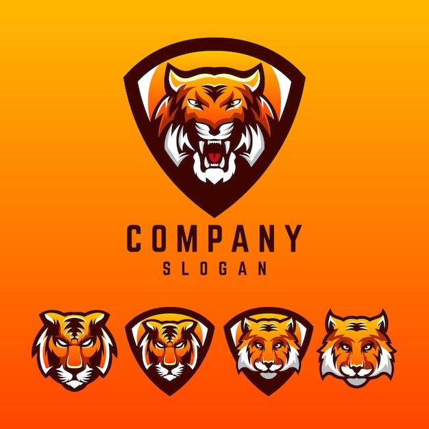 Création de logo tigre Vecteur Premium