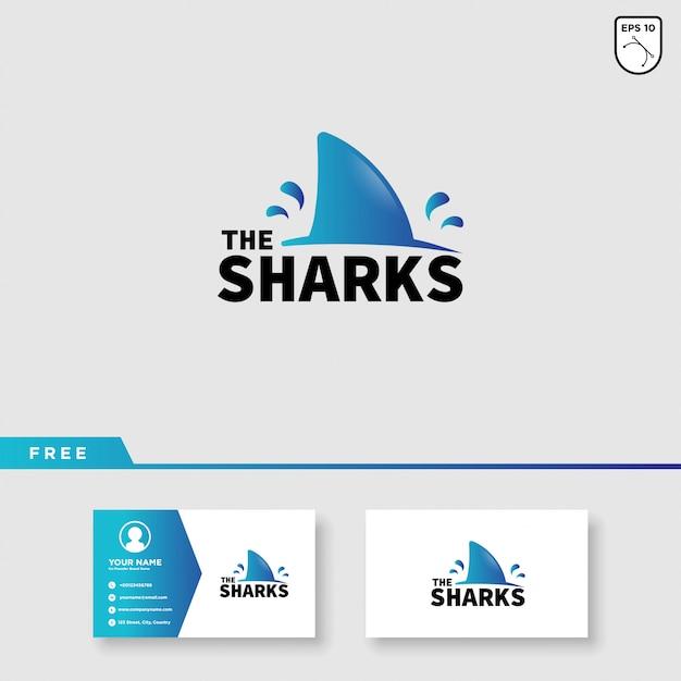 Création de logo vectoriel requin Vecteur Premium