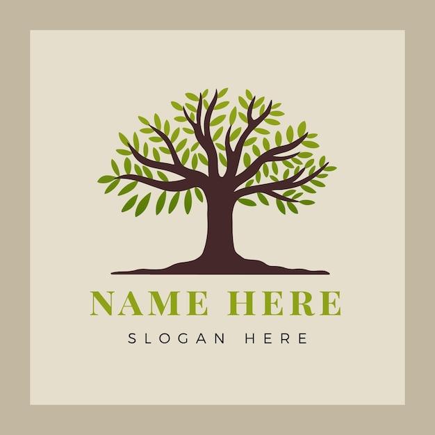 Création De Logo De Vie D'arbre Vecteur Premium