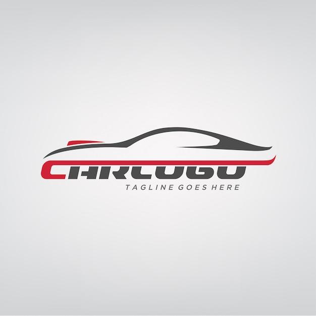 Création de logo de voiture élégante Vecteur Premium