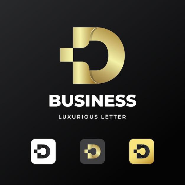 Création De Modèle De Logo Lettre D Initiale De Luxe Premium Vecteur Premium
