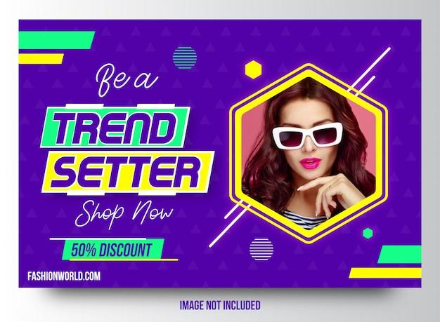 Création de modèles de bannière tendance vente mode Vecteur Premium