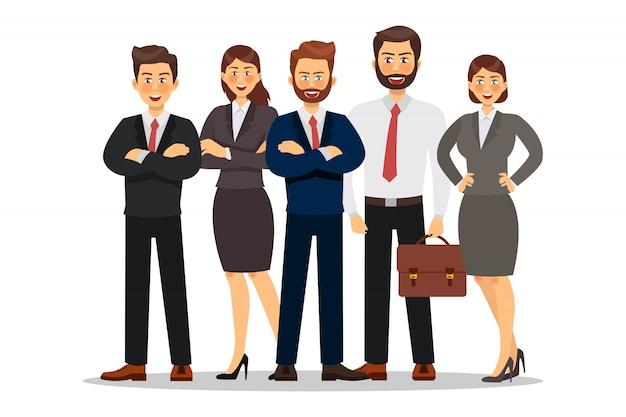 Création De Personnage De Gens D'affaires. Illustration Vectorielle Vecteur Premium