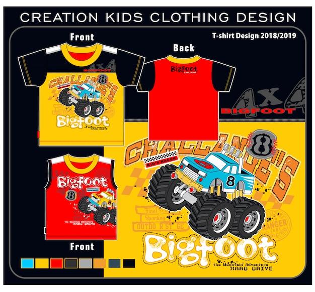 Création vêtements enfants Vecteur Premium