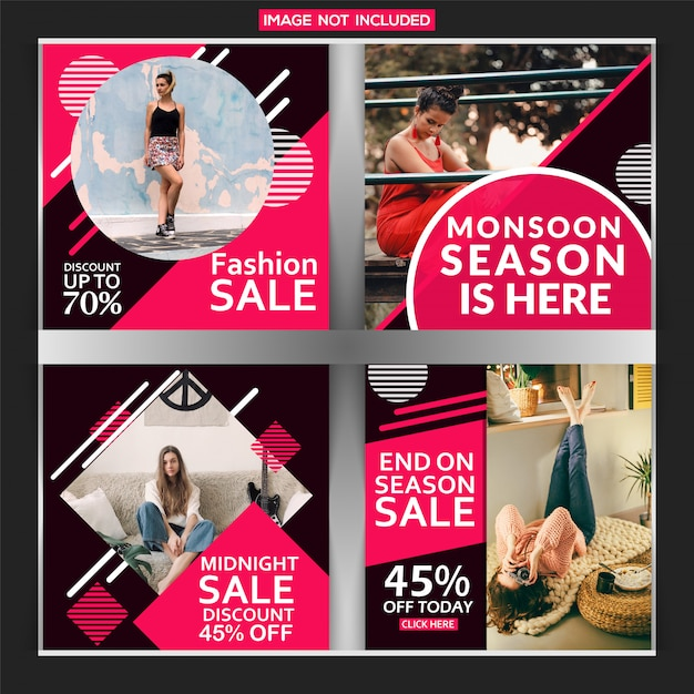 Creative discount instagram post Vecteur Premium