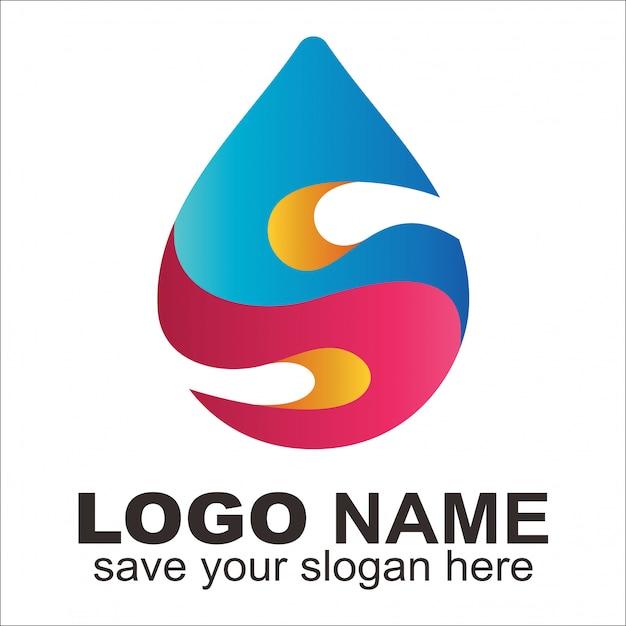 Creative Lettre S Logo Essence Et Huile Vecteur Premium
