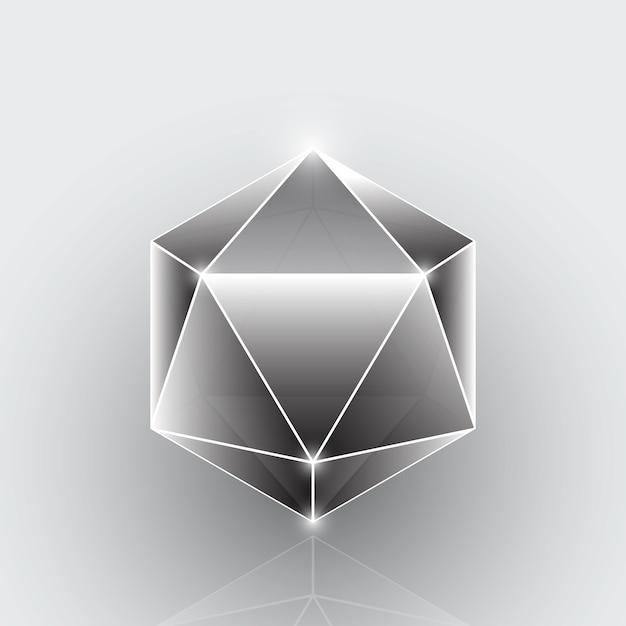 Créer Un élément De Pierre Gemme Géométrique De Polygone Vecteur Premium
