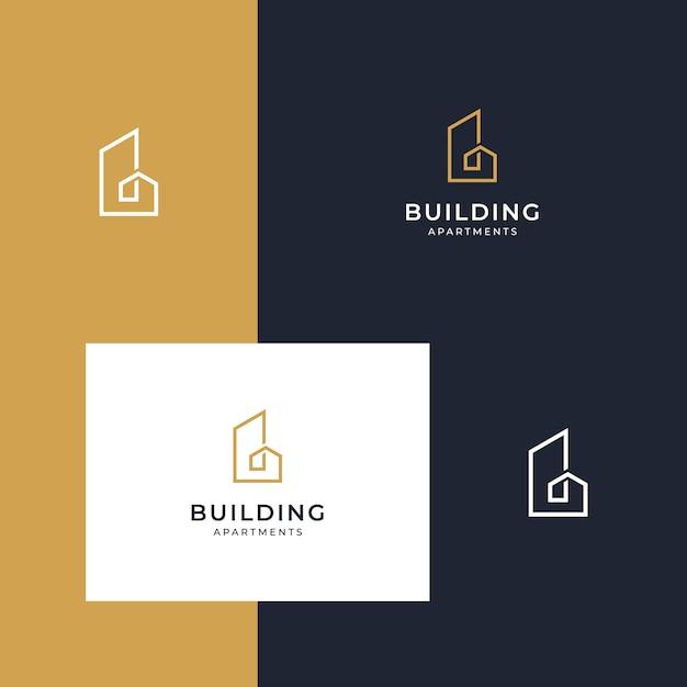 Créer des logos inspirants avec des dessins au trait Vecteur Premium