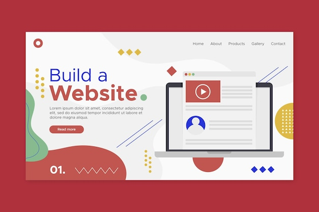 Créer Une Page De Destination De Site Web Vecteur gratuit