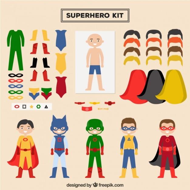Superhero Character Design Template
