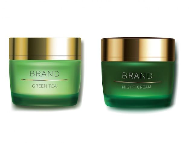 Crème cosmétique jour et nuit Vecteur gratuit