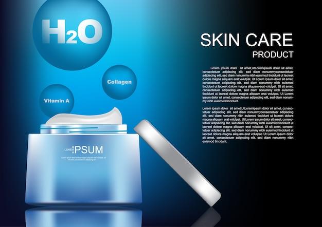 Crème cosmétique ouverte Vecteur Premium