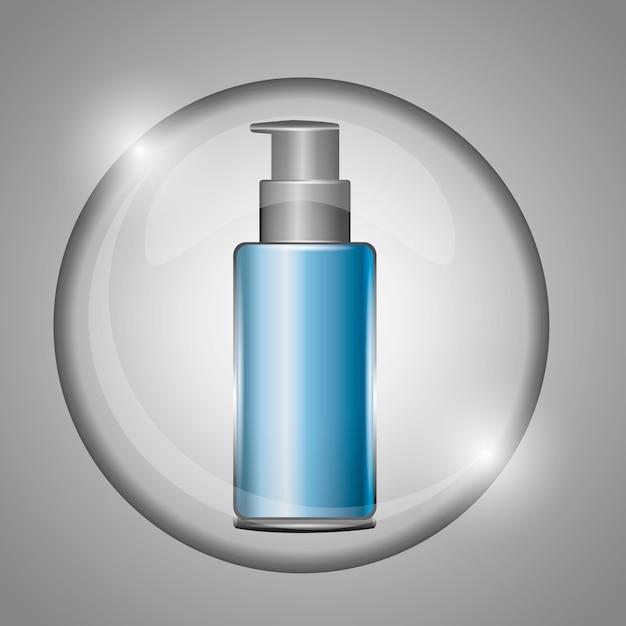 Crème cosmétique soin de la peau sur la bulle Vecteur Premium