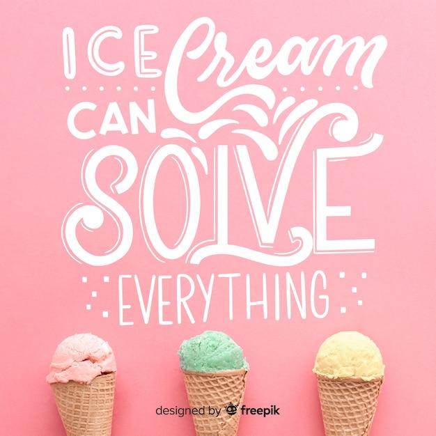 La Crème Glacée Peut Tout Résoudre Vecteur gratuit