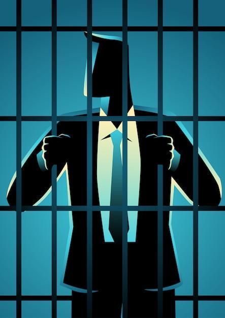 Criminel En Col Blanc Vecteur Premium