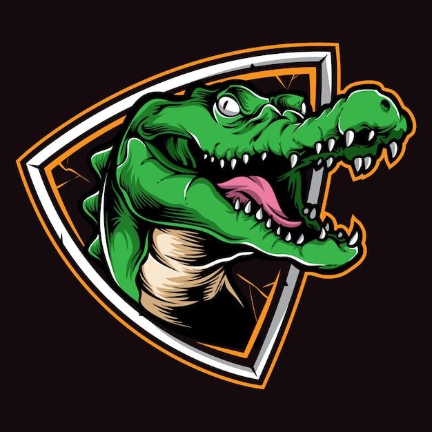 Crocodile logo vectoriel Vecteur Premium