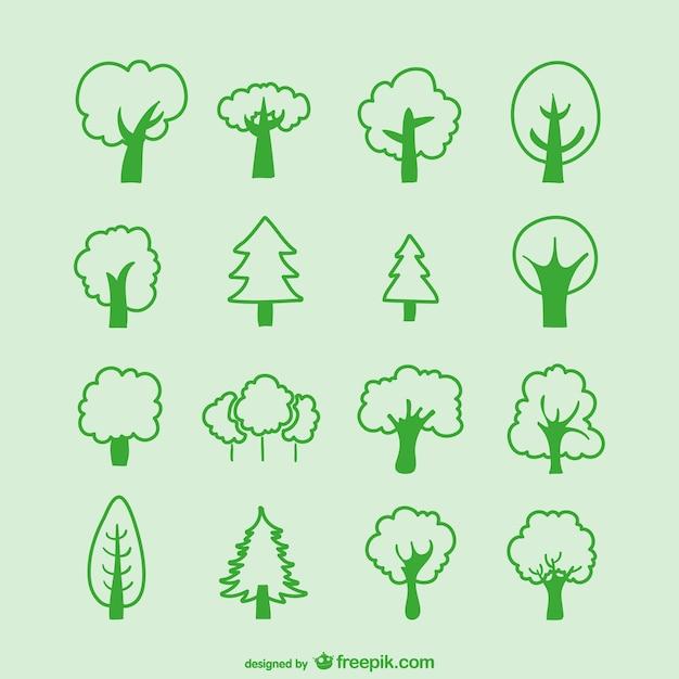 Croquis d 39 arbres emballent t l charger des vecteurs - Croquis arbre ...