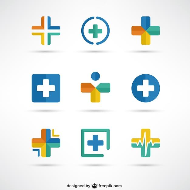 Crosses logo modèles médicaux Vecteur gratuit