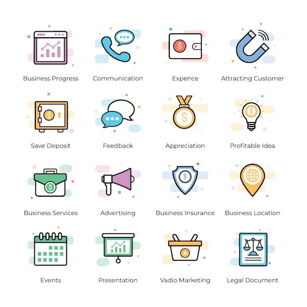 Crowdfunding et business vectors Vecteur Premium