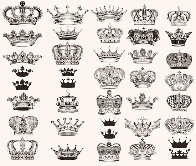 Crown conçoit collection Vecteur Premium
