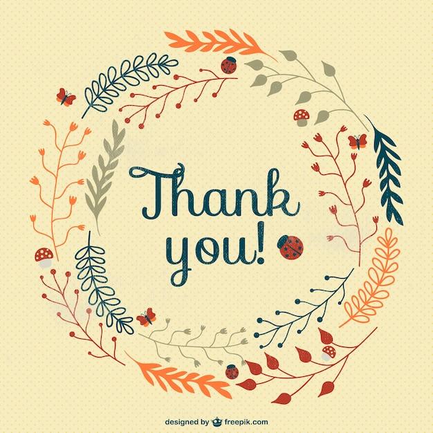carte de remerciement vector