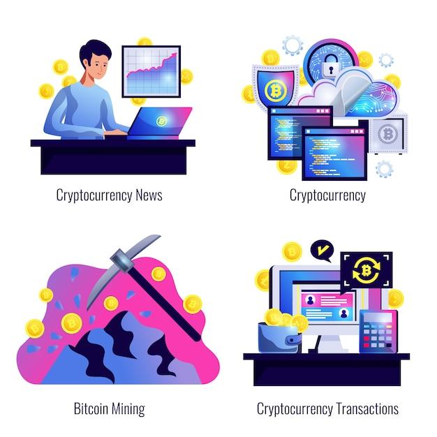 Crypto-monnaie 2x2 Vecteur gratuit