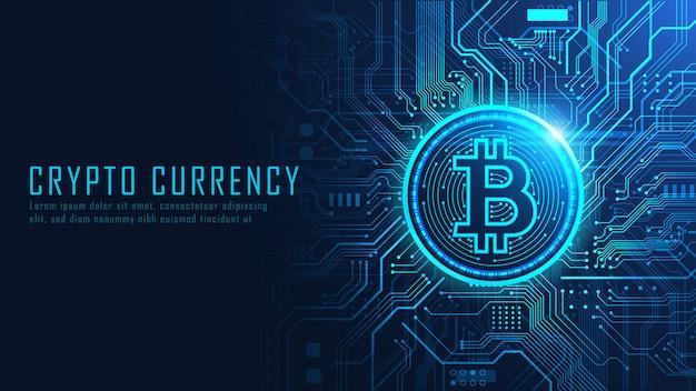 Crypto-monnaie Bitcoin Vecteur Premium