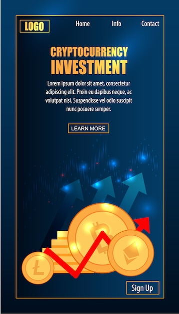 Cryptomonnaie trading digital success profit Vecteur Premium