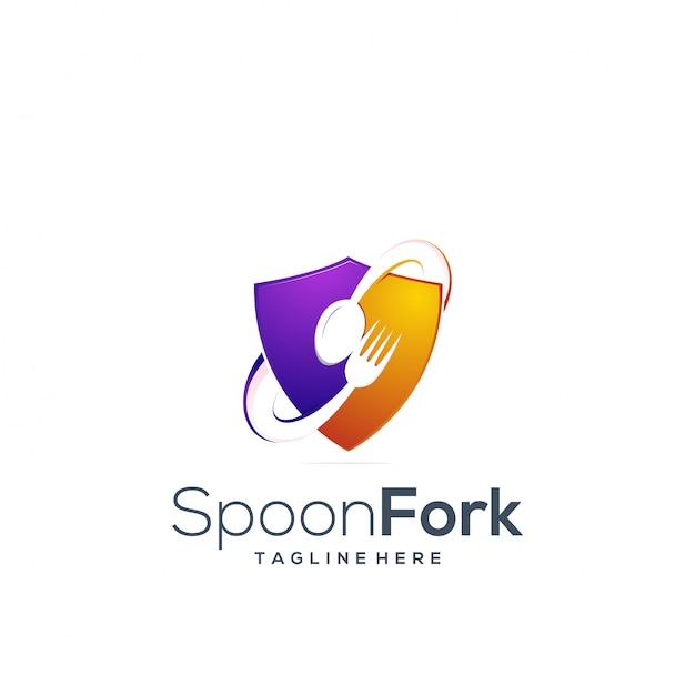 Cuillère Et Fourchette à Logo Vecteur Premium