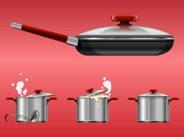 cuisine r alistes vecteurs de batteries de cuisine t l charger des vecteurs gratuitement. Black Bedroom Furniture Sets. Home Design Ideas