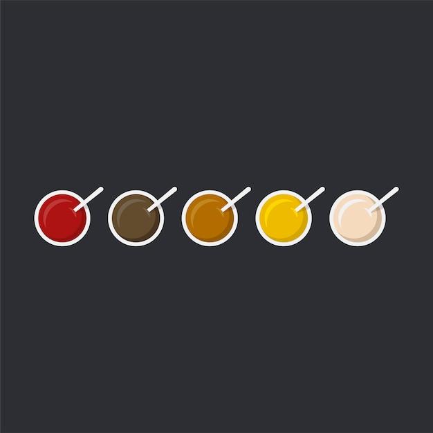 Cuisson condiments mis illustration Vecteur gratuit