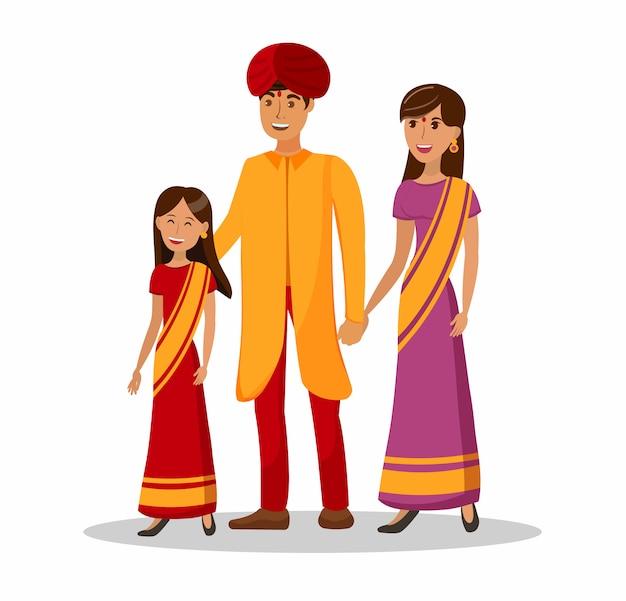 Culture indienne Vecteur Premium