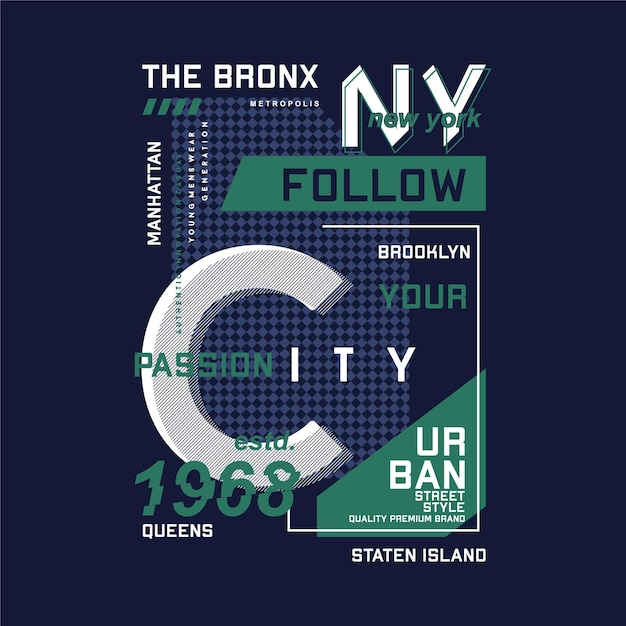La Culture Supérieure Du Bronx New York City Vecteur Premium