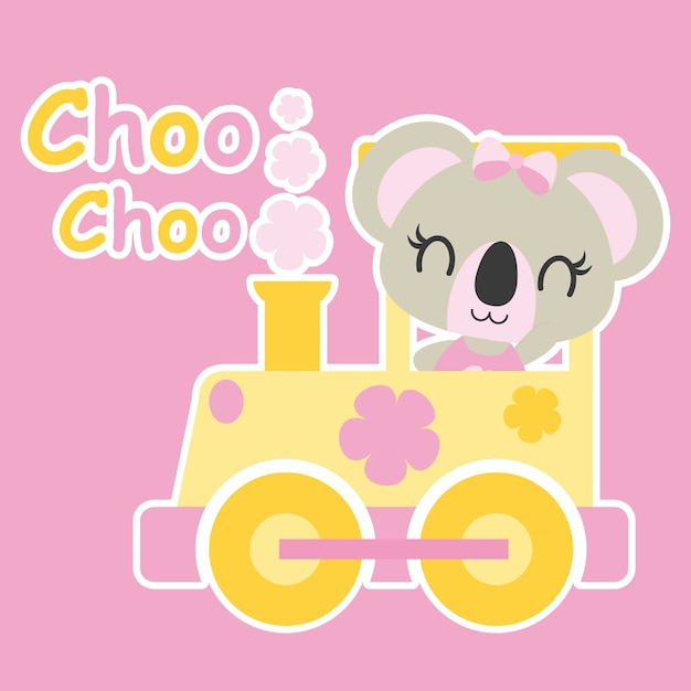 Cute Baby Koala Conduit L Illustration De Dessin Anime De