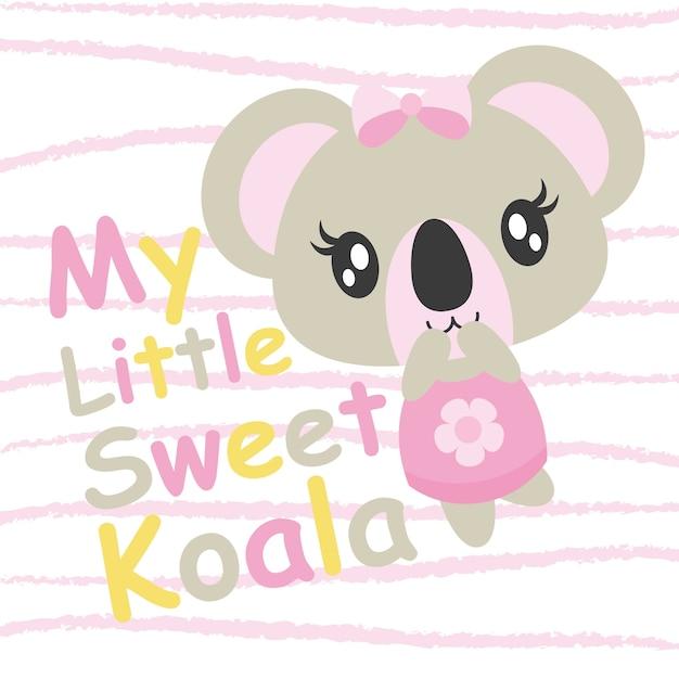 Cute Baby Koala Joue L Illustration De Bande Dessinee