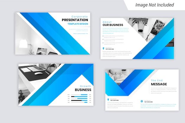 Cyan et bleu dégradé couleur présentation d'entreprise présentation des diapositives conception Vecteur Premium