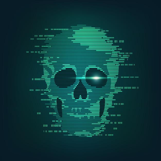Cyber-attaque Vecteur Premium
