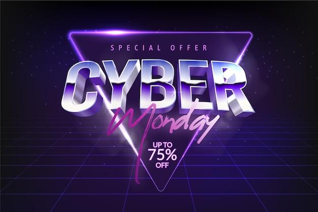 Cyber Lundi En Diamant Violet Vecteur gratuit