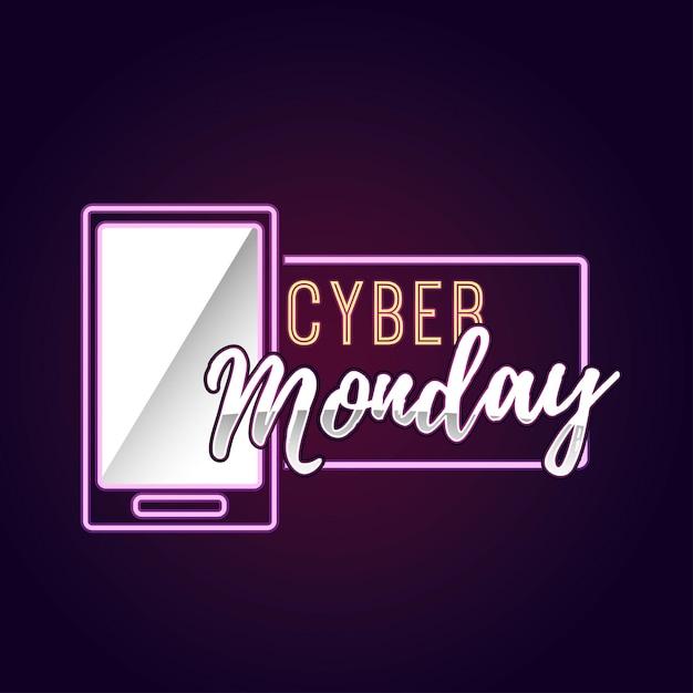 Cyber lundi illustration Vecteur Premium