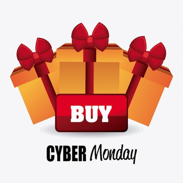 Cyber lundi saison de magasinage Vecteur gratuit