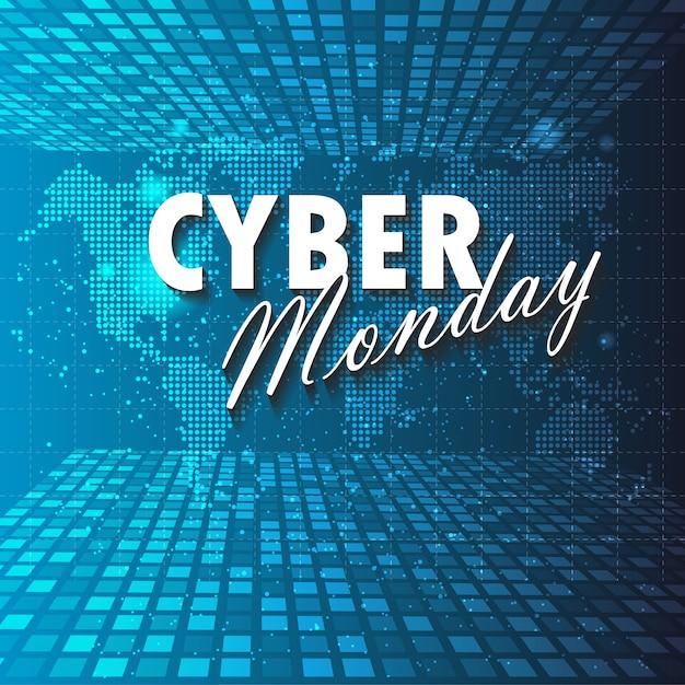 Cyber lundi traite design, illustration vectorielle illustration eps10 Vecteur Premium