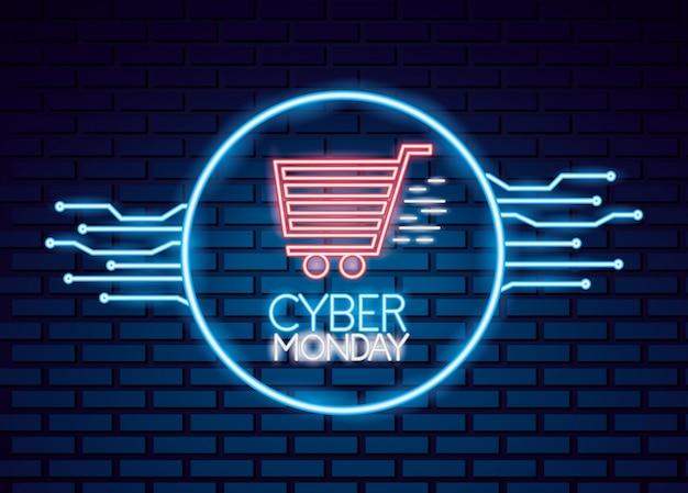 Cyber lundi vente Vecteur Premium