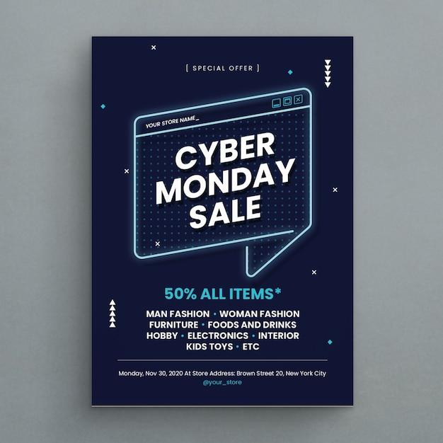 Cyber Lundi Vecteur Premium