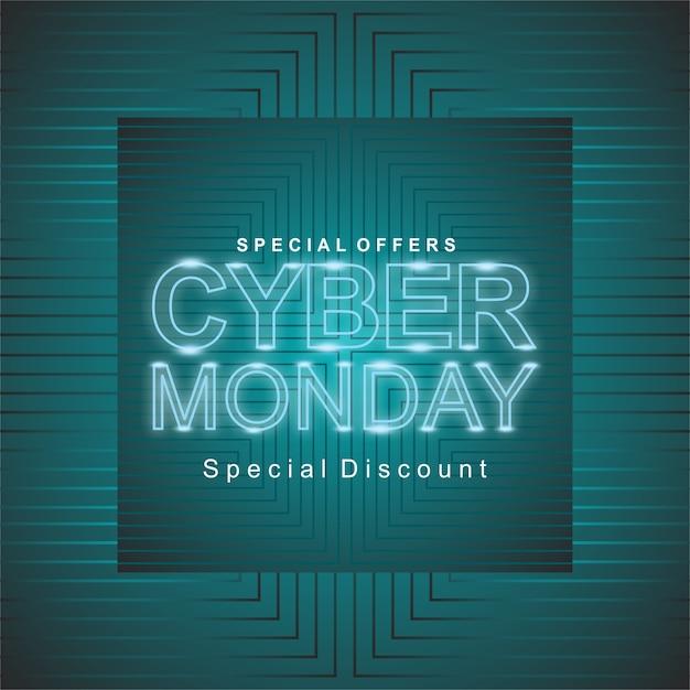 Cyber monday sale Vecteur Premium