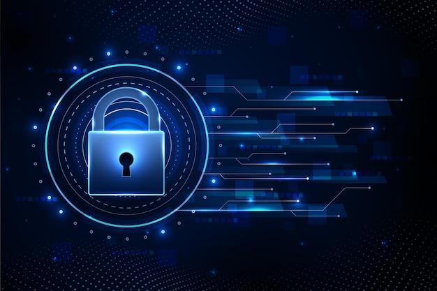 La Cyber-sécurité Vecteur Premium