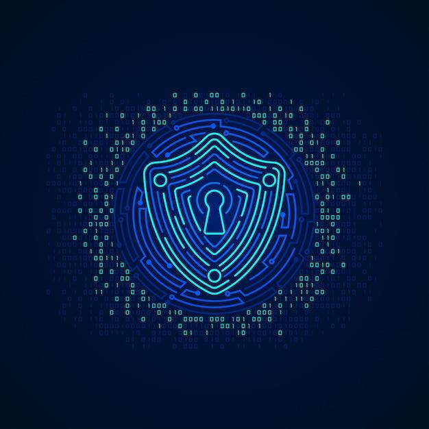 Cyber shield Vecteur Premium