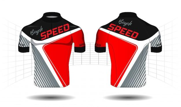 Cycle Jersey.sport Vecteur équipement De Protection Vecteur Premium